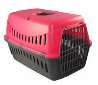 Переноска для котів і собак, велика, Gipsy, MP Bergamo, 58х38х38 см, пласт, рожевий