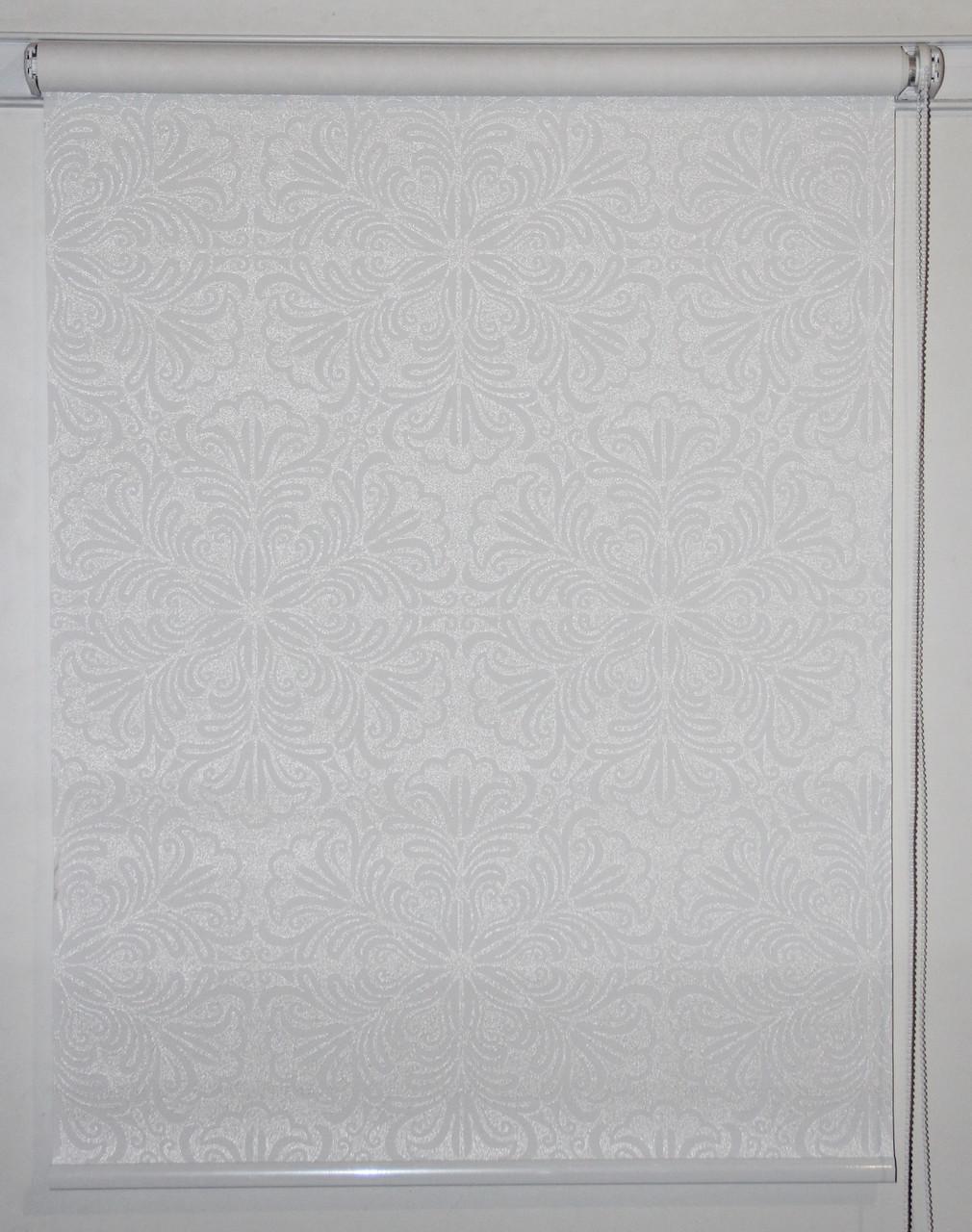 Готовые рулонные шторы 325*1500 Ткань Эмир Белый
