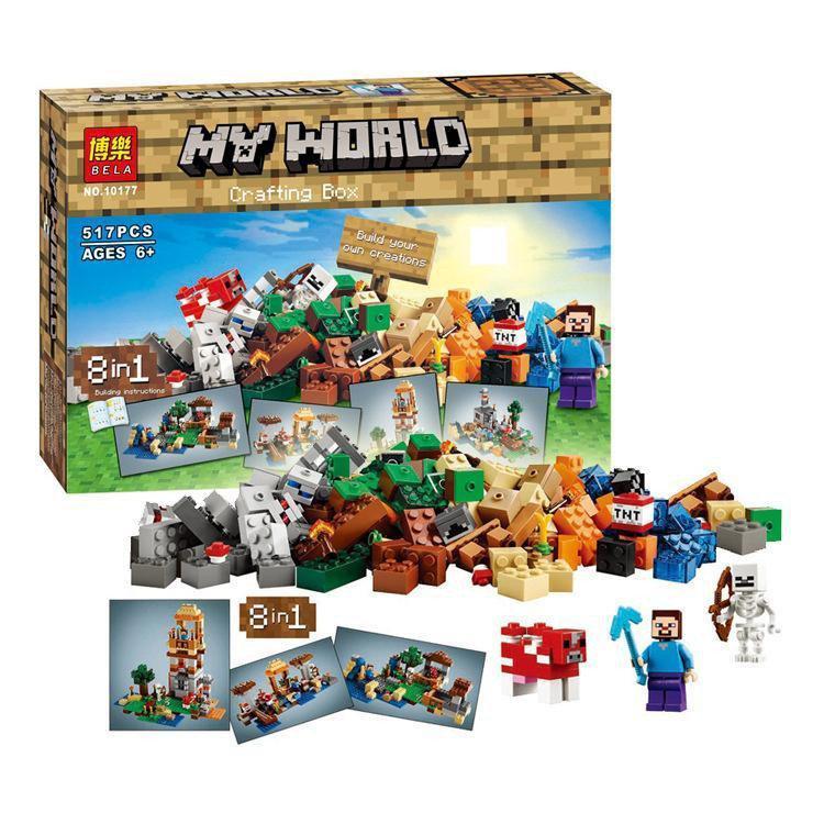 "Конструктор  Minecraft 10177 (Аналог Lego Minecraft 79072)""Майнкрафт 8 в 1"" 517 деталей"