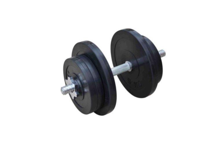 Разборная обрезиненная гантель 21 кг (RN_OD21)