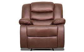"""Кожаное кресло с реклайнером """"Ashley"""" (Эшли) (95 см)"""