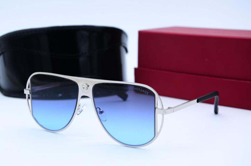 Женские солнцезащитные очки Маска 20310 серебристые