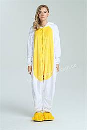 Костюм кигуруми пижама единорог желтый для детей  и взрослых, кигуруми оптом
