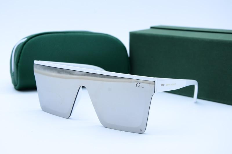 Женские солнцезащитные очки Маска 312 белые зеркало