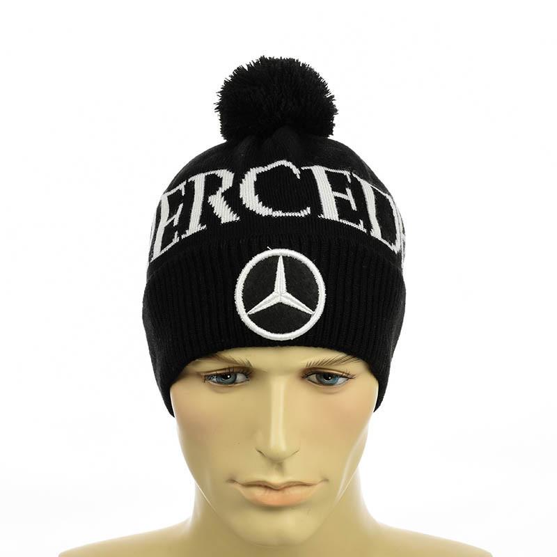 ● Шапка - Mercedes - с помпоном ●