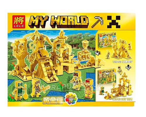 Конструктор  Minecraft Lele My World 33156   123 детали, Золотая серия