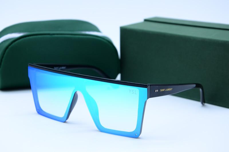 Женские солнцезащитные очки Маска 312 голубые