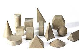 Набір моделей геометричних тіл, 14 шт, дерево