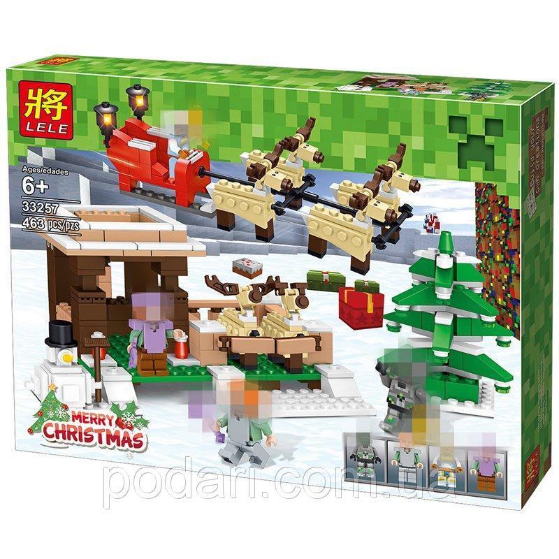 Конструктор Lele 33257 Майнкрафт Minecraft Рождество Кристмас 463 дет