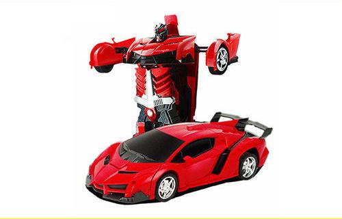 Машинка трансформер Lamborghini Robot Car Size 1:18 - Красная