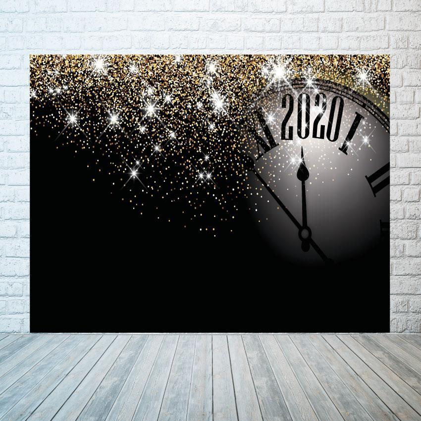 Новогодний баннер  Часы  2х3м