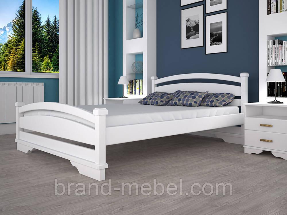 Дерев'яне ліжко двоспальне Атлант 2 / Деревянная кровать двуспальная Атлант 2