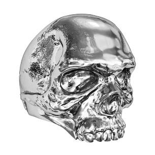 Печатка мужская серебряная Череп
