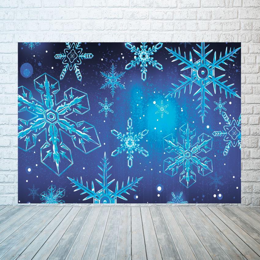 Новогодний баннер  Снежинки  2х3 м