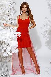 Вечернее платье красного цвета| S|M|Lр.
