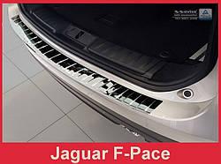 Захисна накладка на бампер Jaguar F-Pace (глянцева)