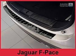 Захисна накладка на бампер Jaguar F-Pace (чорна глянсова)