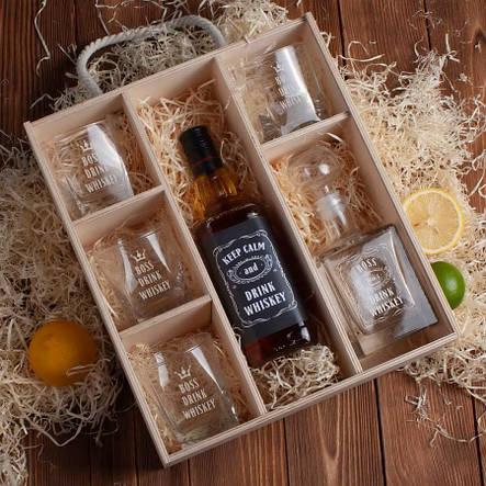 """Набір для віскі """"Drink whiskey"""" в ящику L, фото 2"""