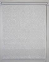 Готовые рулонные шторы ткань Эмир Белый