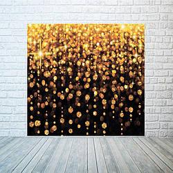Новогодний баннер  Золотой дождь  2х2 м
