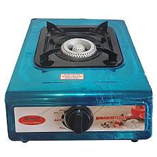 Газовая плита на Одну конфорки Wimpex WX-1101   + ПОДАРОК: Настенный Фонарик с регулятором BL-8772A, фото 3