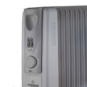 Масляный обогреватель Crownberg CB-11S 2500Вт + ПОДАРОК: Настенный Фонарик с регулятором BL-8772A, фото 2