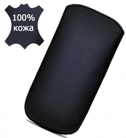 Grand Premium чехол-вытяжка для FLY DS133 (кожаный, с лентой)