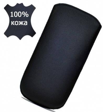 Grand Premium чехол-вытяжка для FLY DS133 (кожаный, с лентой), фото 2