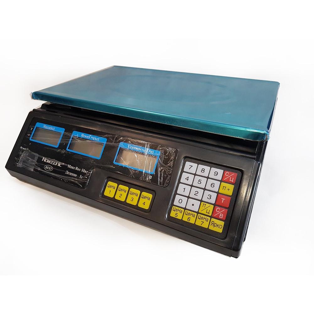 Торговые весы Nokasonic NK до 40 кг 4V *3011012173 [243] + ПОДАРОК: Настенный Фонарик с регулятором BL-8772A