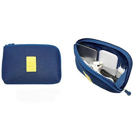 Органайзер для зарядок Cable Pouch(синий), фото 2