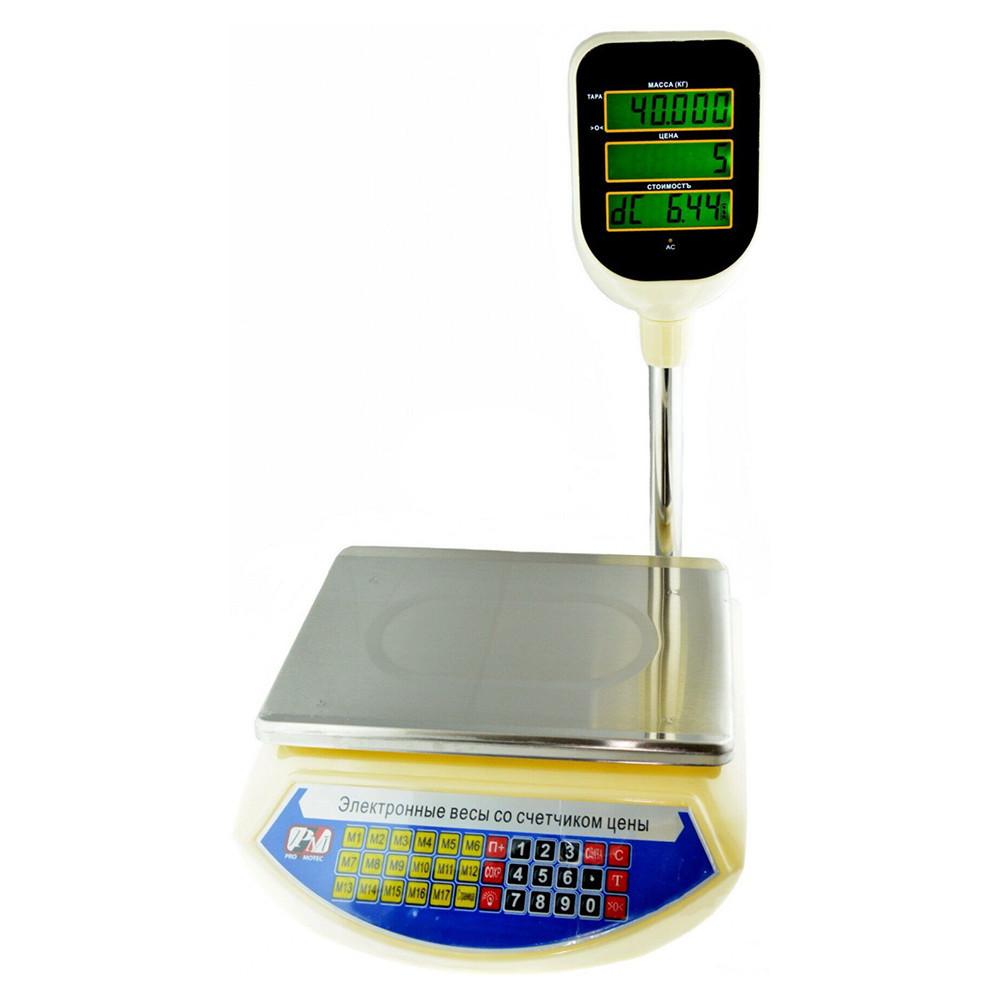 Торговые Весы Promotec PM-5052 со стойкой 6V *3011012178 [243] + ПОДАРОК: Настенный Фонарик с регулятором