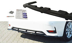 Центральний дифузор заднього бампера Lexus CT Mk1 Facelift (з вертикальними ребрами)