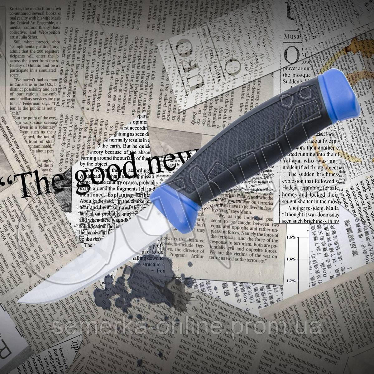 Нож для дайвинга А 201 из нержавейки. Рукоять обрезинена. Пластиковый чехол в комплекте.