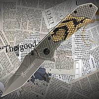 Нож Browning X66 складной, компактный с эргономичной рукоятью. Оригинальный дизайн.Подпружненный выброс клинка, фото 1