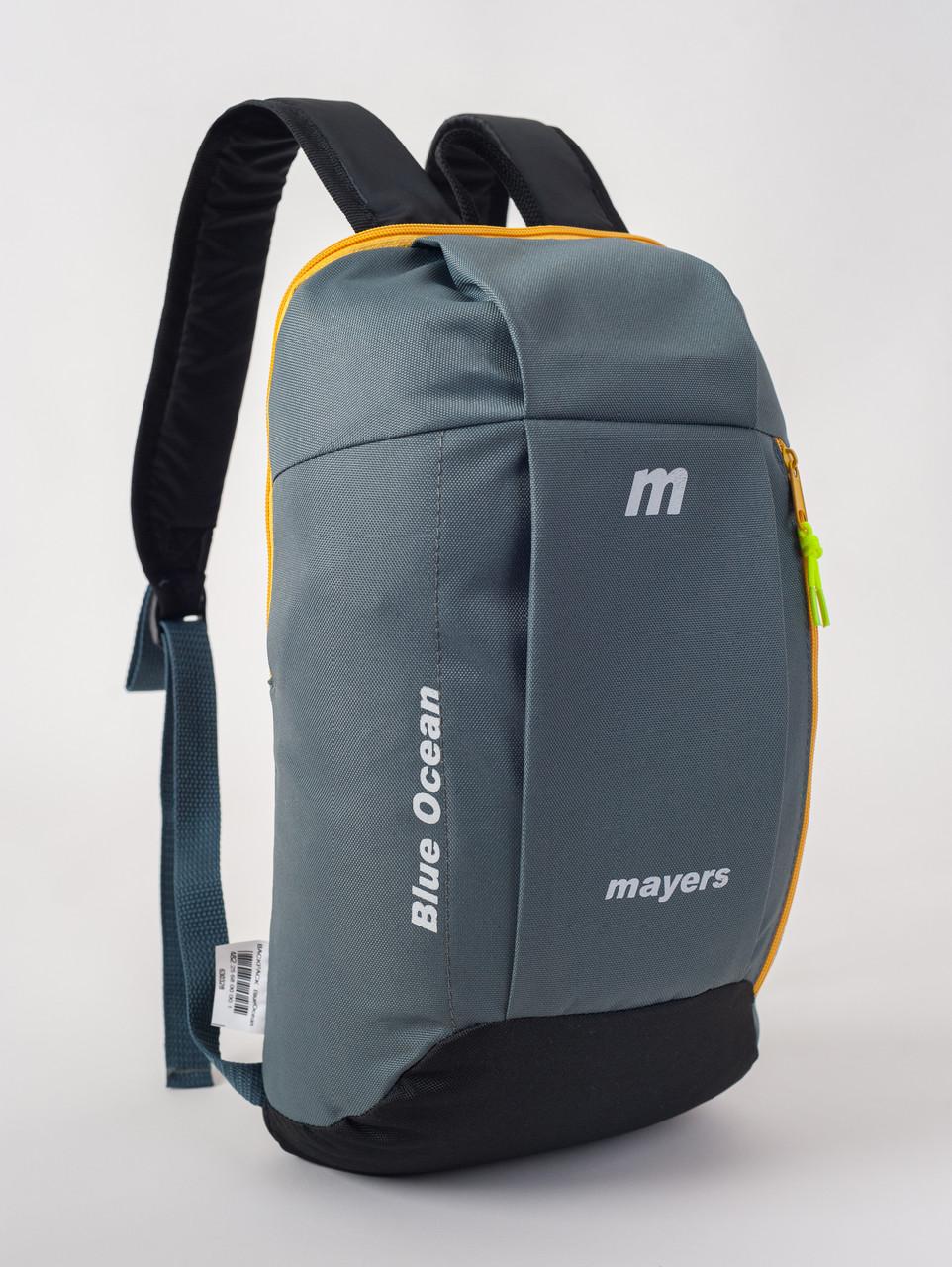 Спортивный рюкзак MAYERS 10L, серый+черный/желтая молния, фото 2
