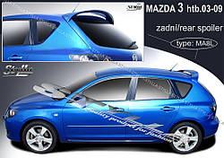 Спойлер Mazda 3 хетчбек Stylla