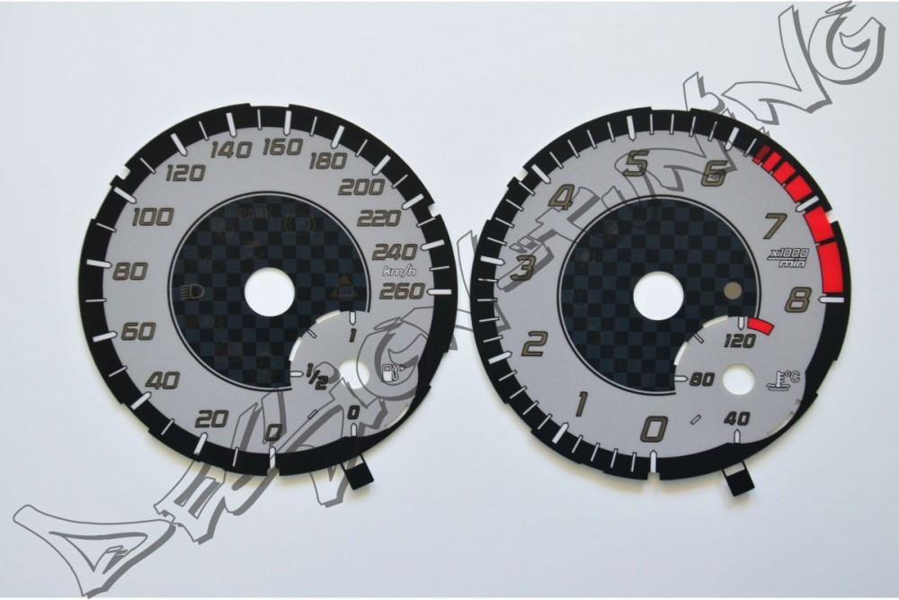 Шкала-замінник миль на кілометри Mercedes A W176 (2012-...), SLK R172 (2011-...)