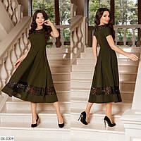 Красивое вечернее платье с кружевами французской длины, размеры 42-44, 44-46
