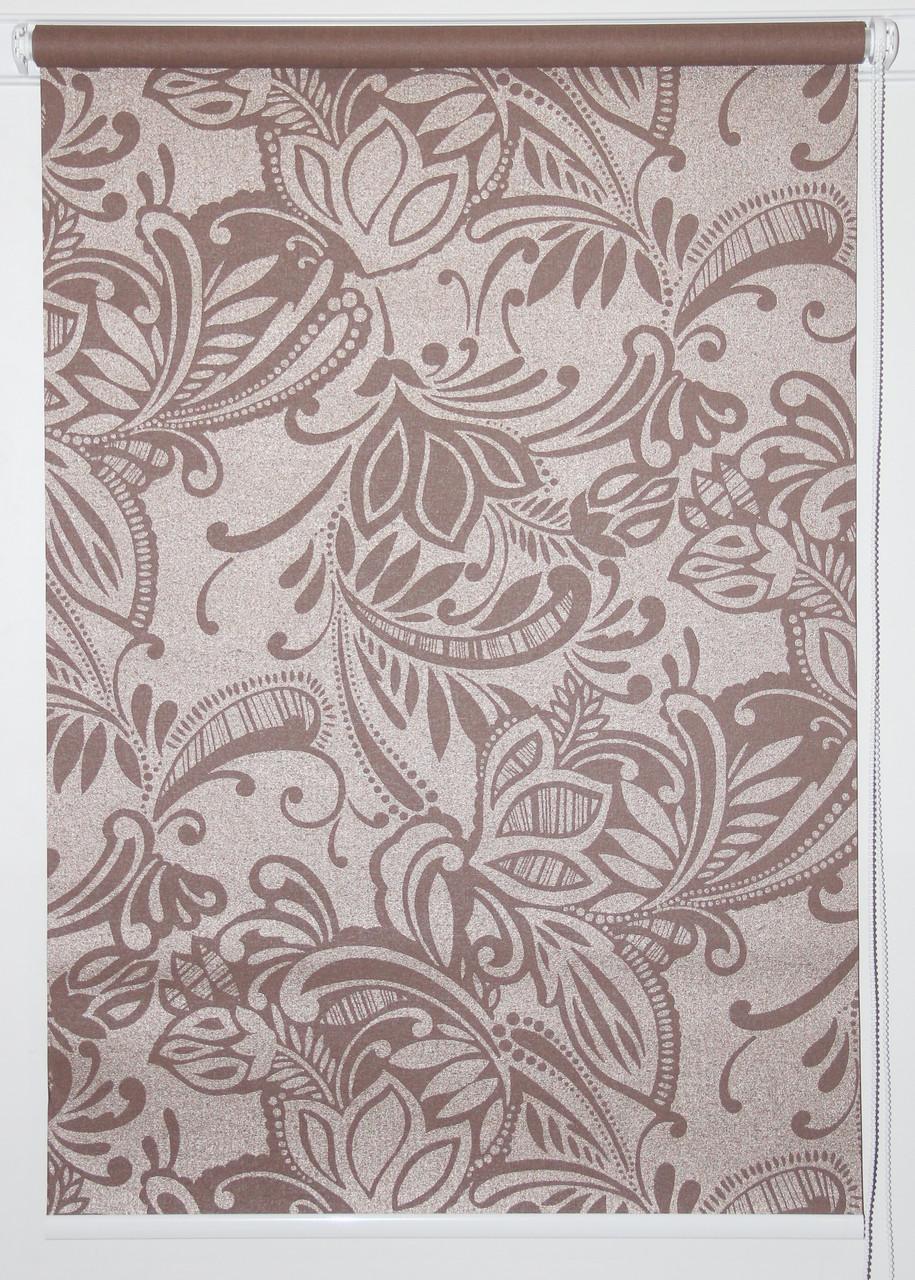 Готовые рулонные шторы 450*1500 Ткань Софи Коричневый