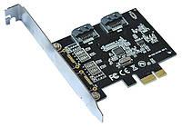 Контроллер PCI-E=>SATA 3.0, ASM1061, 6Gb/s, 2 порта внутренних, BOX