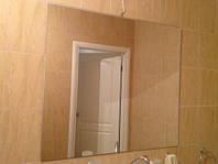 Зеркало  в ванную прямоугольное с креплениями