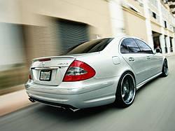 Спойлер Mercedes W211 E копія AMG скловолокно