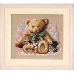 """35236 """"Тедди и котята//Teddy & Kittens"""". DIMENSIONS. Набор для вышивания нитками"""