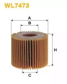 Масляный фильтр WL7473 WIX FILTERS