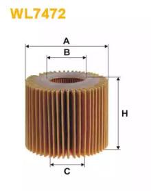 Масляный фильтр WL7472 WIX FILTERS