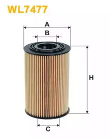 Масляный фильтр WL7477 WIX FILTERS