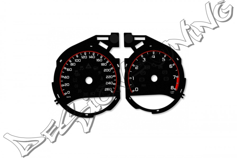 Шкала-замінник миль на кілометри Mercedes C W205 (2015-...), GLC x253/c253 (2016-...)