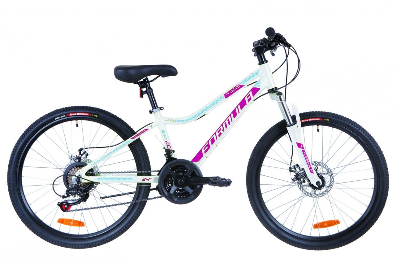 Велосипед 24 Formula ACID 2.0 AM 14G DD рама - 12.5 Al біло-малиновий з голубим 2019