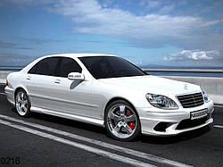 Пороги тюнінгові Mercedes W220 Sultan
