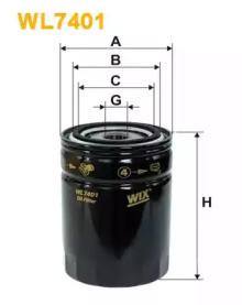 Масляный фильтр WL7401 WIX FILTERS